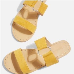 Topshop Mustard Yellow Ring Sandals